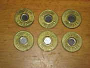 6 Vintage New York City Nyc Transit Tokens Subway Bus Excellent Shiny Condition