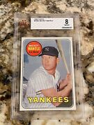 1969 Topps Mickey Mantle 500 Bvg 8 Nm-mt Centered Super Hi End Yankees Hof Icon