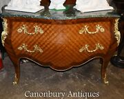 Single Louis Xvi Parquetry Inlay Chest Of Drawers Bombe Commode
