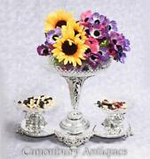 Sheffield Silver Plate Epergene Centrepiece Dish Glass Bowl Camel