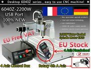 Usb 6040 4 Axis Cnc Router 2200w 2.2kw Vfd Engraving Milling Cutter Machine+ Mpg