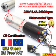1.8kw Automatic Tool Changer Iso20 Atc Spindle Motor Water Cooled 24000rpm 220v