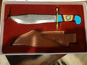 Nice David Brian Yellowhorse Case Xx Bowie Knife 60/100 Knife Father And Son Made