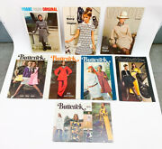 Lot Of 8 Vtg Fashion Store Displays Cardboard Vogue Patterns And Butterick Fashion