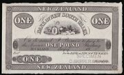 New Zealand Bank Of New South Wales Andpound1 Auckland 18-- C1870-90 Specimen. Rare.