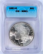 1881-s Morgan Silver Dollar - Icg Graded And Certified. Gorgeous Coin