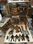 Vintage 1974 Mego Planet Of The Apes Village Fold Out Playset Boxed And Apes Rare