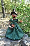 Reserved For Catherine Primitive Halloween Pumpkin Witch Folk Art Doll 29