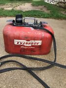 Vintage Evinrude Cruise A Day Junior Outboard 4 Gallon Fuel Tank Gas Can Boat