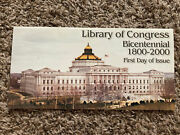 Library Of Congress Bicentennial First Day Issue Stamp