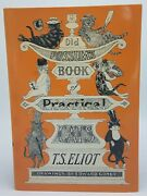 Old Possum's Book Of Practical Cats Hc Dj Illustrations By Edward Gorey Signed