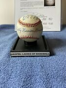 A League Of Their Own Aagpbl Baseball Signed By 6, Dolly Konwinski On Sweet Spot