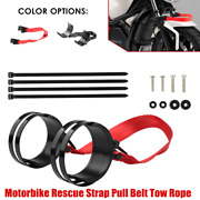 1×universal Motorbike Rescue Strap Pull Belt Tow Rope Front/rear Tie Down Straps