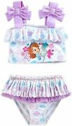 Disney Princess Sofia The First 1of2 Piece Swimsuit Girl Toddler Size 4