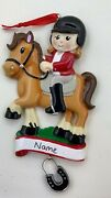 Horse Rider Personalized Christmas Tree Ornament