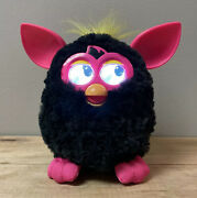 Furby Boom Interactive Toy Black And Pink Yellow Hair 2012 Rare Tested