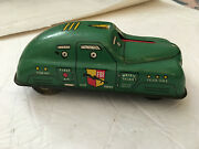 Vintage 1950s Tin Toy Friction Fbi Riot Squad Car Mounted Cannon