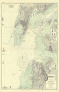 Bombay Harbour. Mumbai India. Admiralty Sea Chart 1885 1956 Old Vintage Map