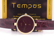 Must Vermeil Mid-size Silver 925 18 Kt Gold Plated Ladyand039s Watch