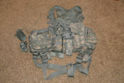 Air Warrior Acu Psgc Survival Carrier Vest Harness W/ Pouches And Knife Sheath