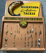 Vintage Marathon Bait Co. Store Display Spinners 3d Wasau Wi Action Tackle