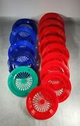Set Of 14 Vintage Packerware Plastic Paper Plate Holders/trays Picnic Bbq 10