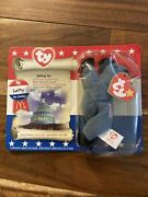 Ty Original Lefty The Donkey Beanie Baby In Original Packaging Tag Errors Rare