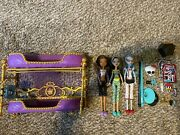 Mattel Monster High Dead Tired Room To Howl Lot Clawdeen Ghoulia Cleo De Nile
