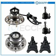 6pc For 2004-2008 Chevy Gmc Front Wheel Bearing Upper Lower Ball Joint Kit W/abs