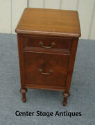 62199 Antique Walnut Nightstand End Table Stand
