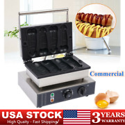 Stainless Commercial Electric Hot Dog Waffle Maker Baker Machine Nonstick 1600w