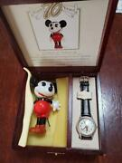 Disney Unused Watch 70th Anniversary Limited Collector With Celluloid Doll