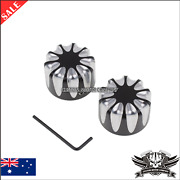 Black Cnc Front Axle Nut Cover Cap Harley Touring Heritage Softail Vrod Fatboy