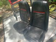 1969 - 1970 Mach 1 High Back Bucket Seats - With Red Stripe Tracks Included