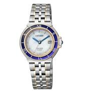 Citizen Exceed Euros Eco-drive Es1035-52a Used Watch Radio Wave Ladies Excellent