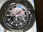 Seiko Astron Solar Menand039s Watch World Time All S/s Blk Sapphire Limited Sast007