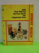 1976 Fast Moving Service Parts For Imported Cars Book Catalog Manual Original