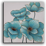 Yasheng Art - 100 Hand Painted Oil Painting On Canvas Blue Flowers Paintings To