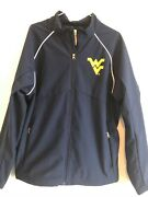 Box Seat Clothing Co. Mens Blue Jacket Wvu Mountaineers Full Zip Large