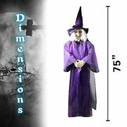 75andrdquo Halloween Hanging Talking Witches Animated Glowing Eyes Life Size