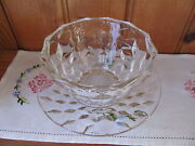 American Fostoria Condiment Serving Dish With Matching Saucer