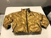 Nwt 200.00 Nike Womens Synthetic Fill Insulated Jacket Metallic Gold Size Large