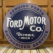 Ford Motor Co. Sign Metal Vintage Style Wall Decor Parts Oil Gas Mustang Truck