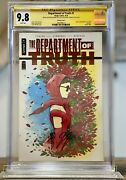 Department Of Truth 1 Peach Momoko Red Foil Cover Cgc 9.8 Ss Double Signed Rare