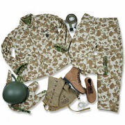 Us Army Usmc Pacific Camouflage Uniform And M1 Helmet With Cover Usmc Leggings