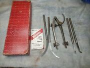 Starrett No. 85 Extension Leg Dividers With 2 Sets Of Legs And Original Box