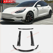 Dry Carbon Body Kit For Tesla Model 3 2016+ Front Lip Side Skirts Rear Diffuser
