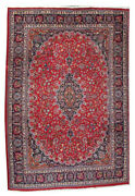 Oriental Vintage Hand Knotted Traditional Woo Classic Red Floral Area Rug 10x13