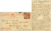 Canada 1897 Stationery Victoria To Wales + Message Ship Empress Of China + Delay