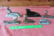 Lot Of 6 Staplers Vintage And Retro Office Stapler Swingline 99 And 13 Pilot Speed +